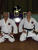 Father and Son, Gavin graded Ikkyu - Brown belt and Taylor graded Shodan image