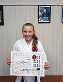 Ava has just recently past her Nikyu grading image
