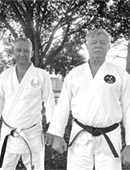 Carl Withey Shihan with Garry O'Connor Hanshi image