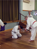 Taylor Sensei being presented with a new 'tomoe,mitsudomoe 三ツ巴' image